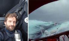 TV: Här seglar han i orkanvindar på 35 m/s